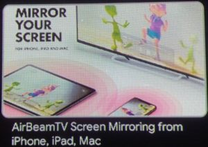 AirBeamTV Screen Mirroring from iOs